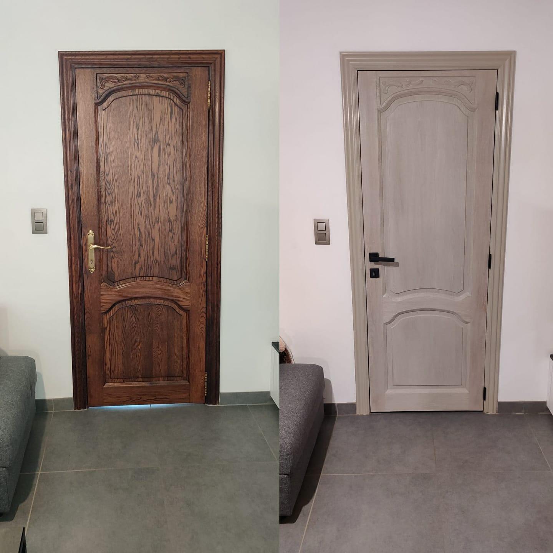 Luchtgommen   zandstralen   fijn stralen   deur   renovatie